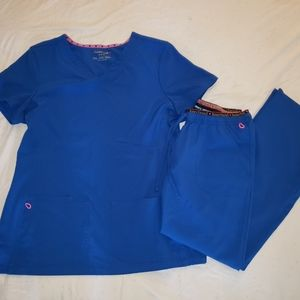Heart Soul Scrub Set Galaxy Blue size Med Petite